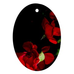 Roses 1 Oval Ornament (two Sides) by timelessartoncanvas