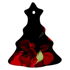 Roses 1 Christmas Tree Ornament (2 Sides) by timelessartoncanvas