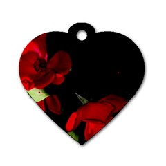 Roses 2 Dog Tag Heart (one Side) by timelessartoncanvas