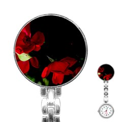 Roses 2 Stainless Steel Nurses Watch by timelessartoncanvas