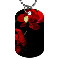 Roses 4 Dog Tag (two Sides) by timelessartoncanvas