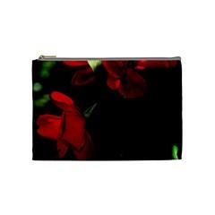 Roses 4 Cosmetic Bag (medium)  by timelessartoncanvas