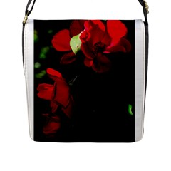Roses 4 Flap Messenger Bag (l)  by timelessartoncanvas