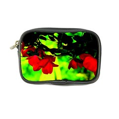 Red Roses And Bright Green 2 Coin Purse by timelessartoncanvas