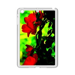 Red Roses and Bright Green 3 iPad Mini 2 Enamel Coated Cases by timelessartoncanvas