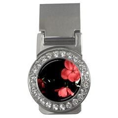 Mauve Roses 1 Money Clips (cz)  by timelessartoncanvas
