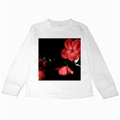 Mauve Roses 1 Kids Long Sleeve T Shirts by timelessartoncanvas