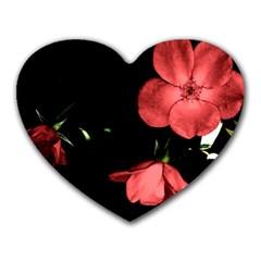 Mauve Roses 1 Heart Mousepads by timelessartoncanvas