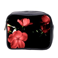 Mauve Roses 2 Mini Toiletries Bag 2 Side by timelessartoncanvas
