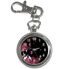 Mauve Pink Roses Key Chain Watches by timelessartoncanvas
