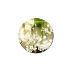 Little White Flowers Golf Ball Marker (10 Pack) by timelessartoncanvas
