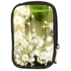 Little White Flowers Compact Camera Cases by timelessartoncanvas