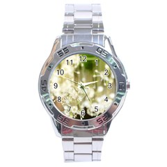 Little White Flowers Stainless Steel Analogue Watch by timelessartoncanvas