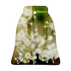 Little White Flowers Ornament (bell)  by timelessartoncanvas