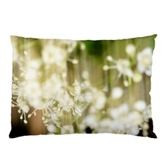 Little White Flowers Pillow Case (two Sides) by timelessartoncanvas