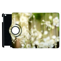 Little White Flowers Apple Ipad 3/4 Flip 360 Case by timelessartoncanvas