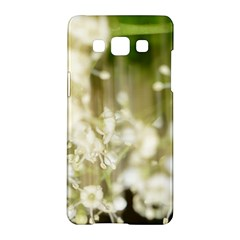 Little White Flowers Samsung Galaxy A5 Hardshell Case  by timelessartoncanvas
