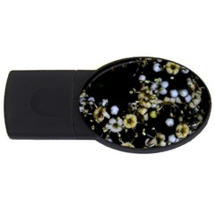 Little White Flowers 2 USB Flash Drive Oval (1 GB)  by timelessartoncanvas