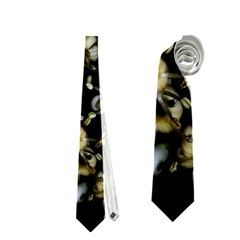 Little White Flowers 2 Neckties (Two Side)  by timelessartoncanvas