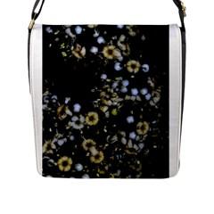 Little White Flowers 2 Flap Messenger Bag (l)  by timelessartoncanvas