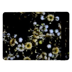 Little White Flowers 2 Samsung Galaxy Tab Pro 12 2  Flip Case by timelessartoncanvas