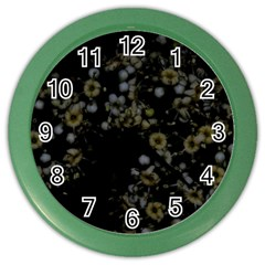 Little White Flowers 3 Color Wall Clocks by timelessartoncanvas