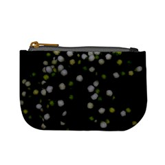 Little White And Green Dots Mini Coin Purses by timelessartoncanvas