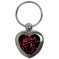 Little Pink Dots Key Chains (heart)  by timelessartoncanvas