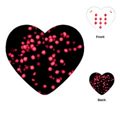 Little Pink Dots Playing Cards (heart)  by timelessartoncanvas