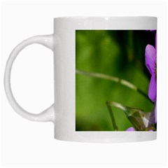 Little Purple Flowers White Mugs by timelessartoncanvas