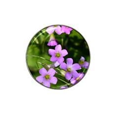 Little Purple Flowers Hat Clip Ball Marker by timelessartoncanvas
