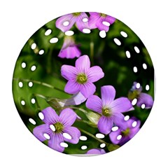 Little Purple Flowers Round Filigree Ornament (2side) by timelessartoncanvas