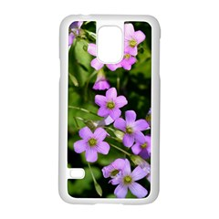 Little Purple Flowers Samsung Galaxy S5 Case (white) by timelessartoncanvas