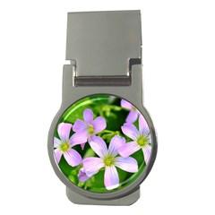 Little Purple Flowers 2 Money Clips (round)  by timelessartoncanvas