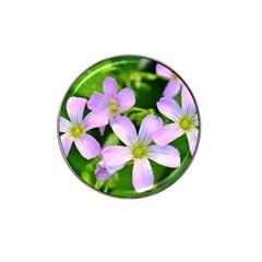 Little Purple Flowers 2 Hat Clip Ball Marker by timelessartoncanvas