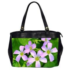 Little Purple Flowers 2 Office Handbags (2 Sides)  by timelessartoncanvas