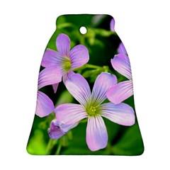 Little Purple Flowers 2 Ornament (bell)  by timelessartoncanvas