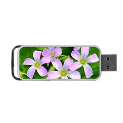Little Purple Flowers 2 Portable USB Flash (Two Sides) by timelessartoncanvas