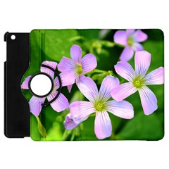 Little Purple Flowers 2 Apple Ipad Mini Flip 360 Case by timelessartoncanvas