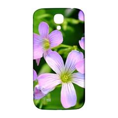 Little Purple Flowers 2 Samsung Galaxy S4 I9500/i9505  Hardshell Back Case by timelessartoncanvas