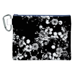 Little Black And White Flowers Canvas Cosmetic Bag (xxl)  by timelessartoncanvas