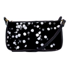 Little Black And White Dots Shoulder Clutch Bags by timelessartoncanvas