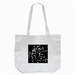 Little Black And White Dots Tote Bag (white) by timelessartoncanvas