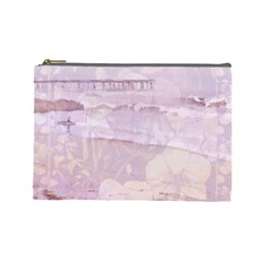 Peachsurforchidcurtain Cosmetic Bag (large) by lynngrayson