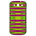 Bright Green Pink Geometric Samsung Galaxy S3 S III Classic Hardshell Back Case