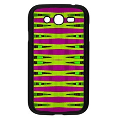 Bright Green Pink Geometric Samsung Galaxy Grand DUOS I9082 Case (Black) by BrightVibesDesign