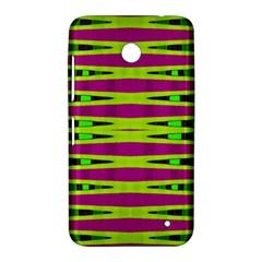 Bright Green Pink Geometric Nokia Lumia 630 by BrightVibesDesign