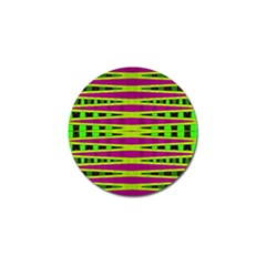 Bright Green Pink Geometric Golf Ball Marker (4 Pack) by BrightVibesDesign
