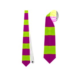 Bright Green Pink Geometric Neckties (One Side)  by BrightVibesDesign