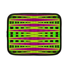 Bright Green Pink Geometric Netbook Case (Small)  by BrightVibesDesign